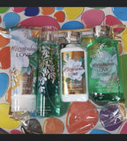 Body splash, lotion and shower gel