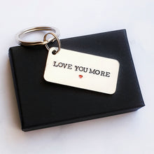 Load image into Gallery viewer, Love you more 10 year anniversary keyring aluminium