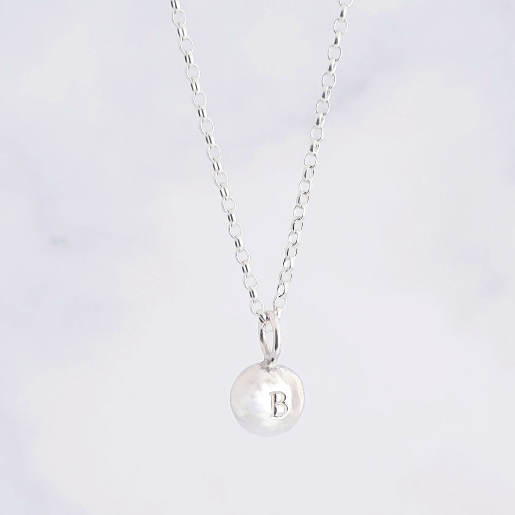 Personalised Pebble Necklace Sterling Silver
