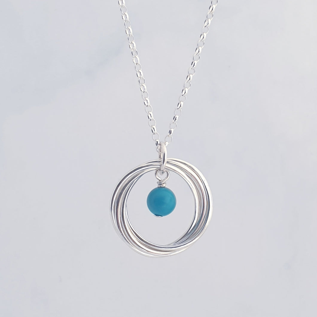 Turquoise Ring Necklace