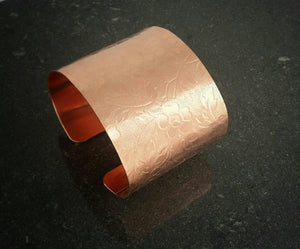 Wide Cuff Copper Bangle for Women