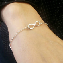 Load image into Gallery viewer, Infinity/figure of eight bracelet sterling silver