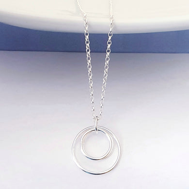 Sterling silver circles mother and child