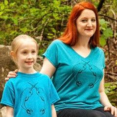 Narwhals shirts for Mommy and me