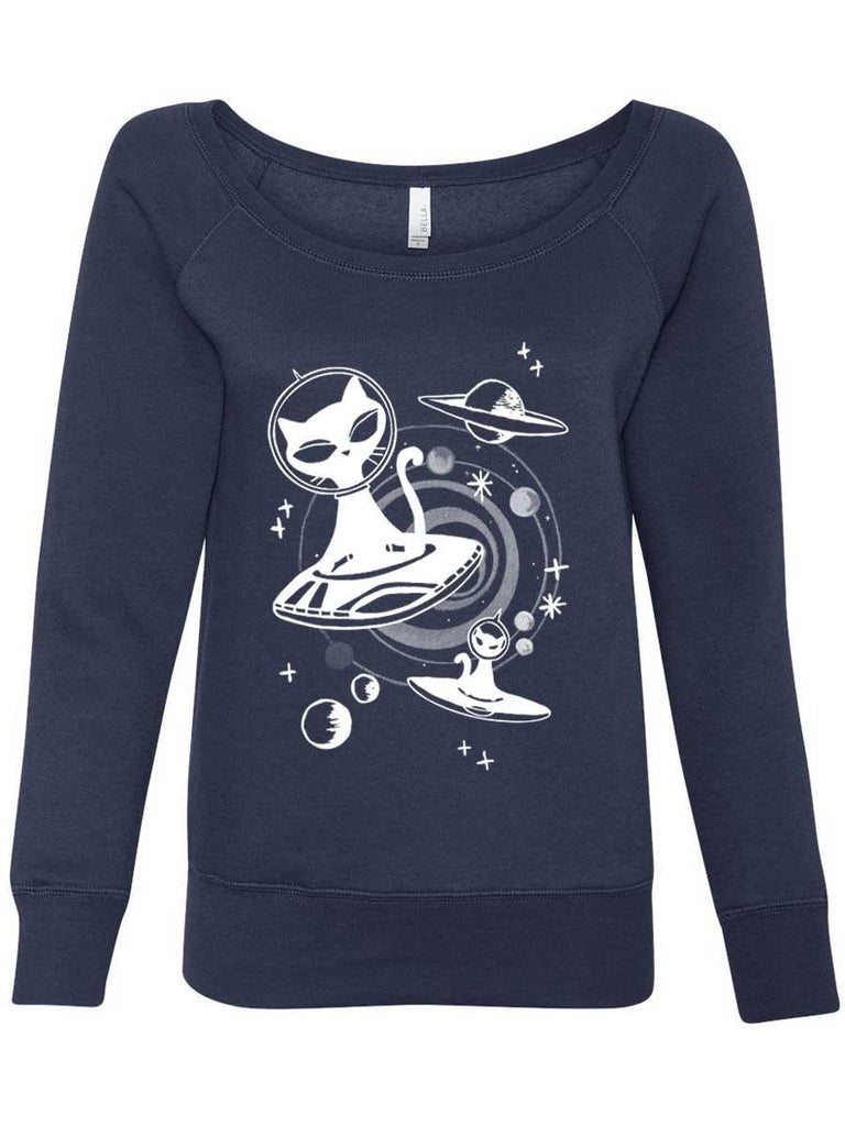 Alien Cat Sweatshirt For Women - Revival Ink Shirts