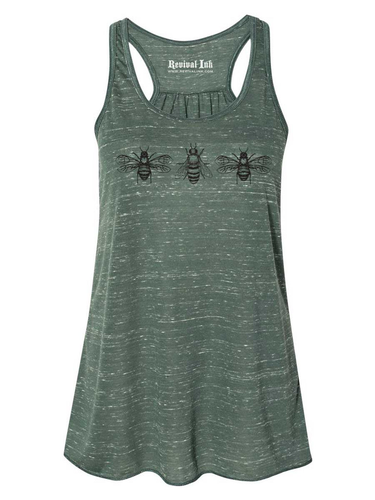 Bees Womens Racerback Tank Top - Revival Ink Shirts