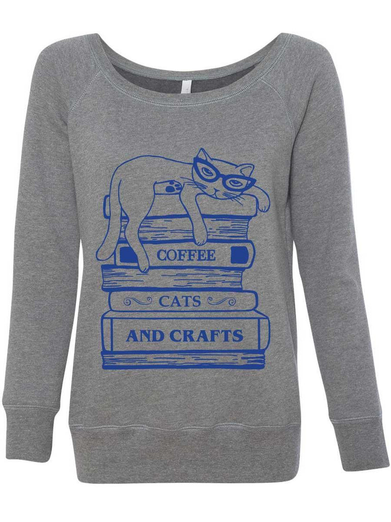 Coffee Cats and Crafts Books Sweatshirt - Revival Ink Shirts