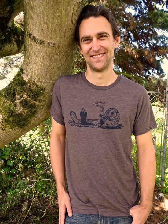 Mens Coffee Otter Shirt - Revival Ink Shirts