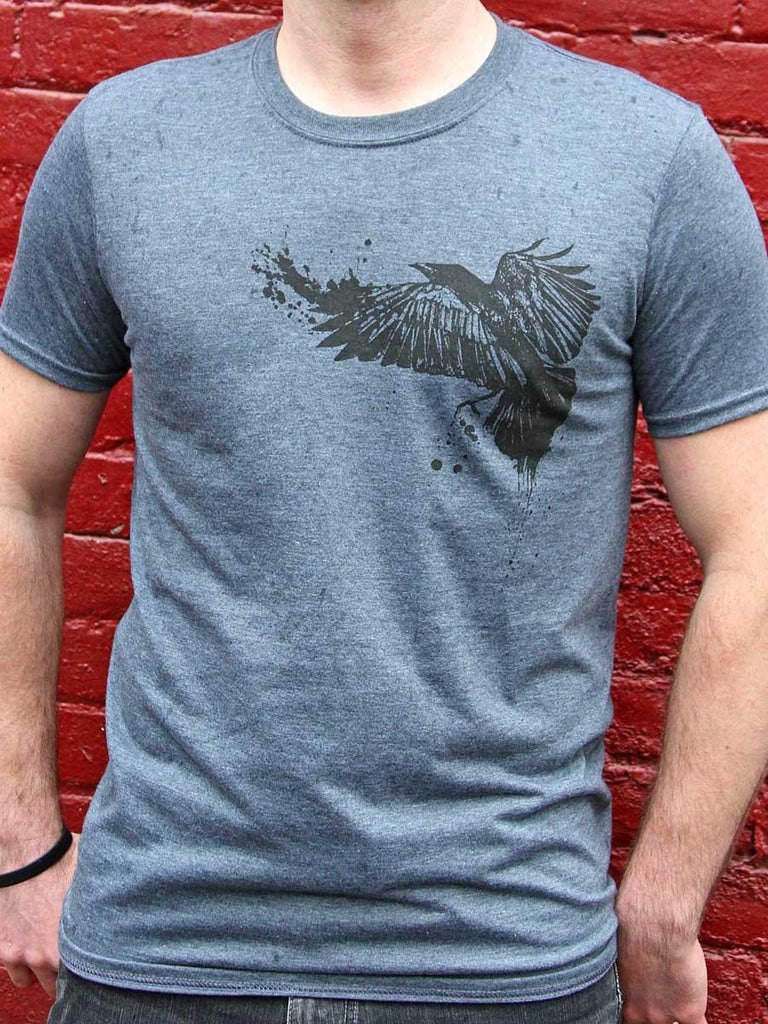 Crow Mens Graphic Tee - Revival Ink Shirts