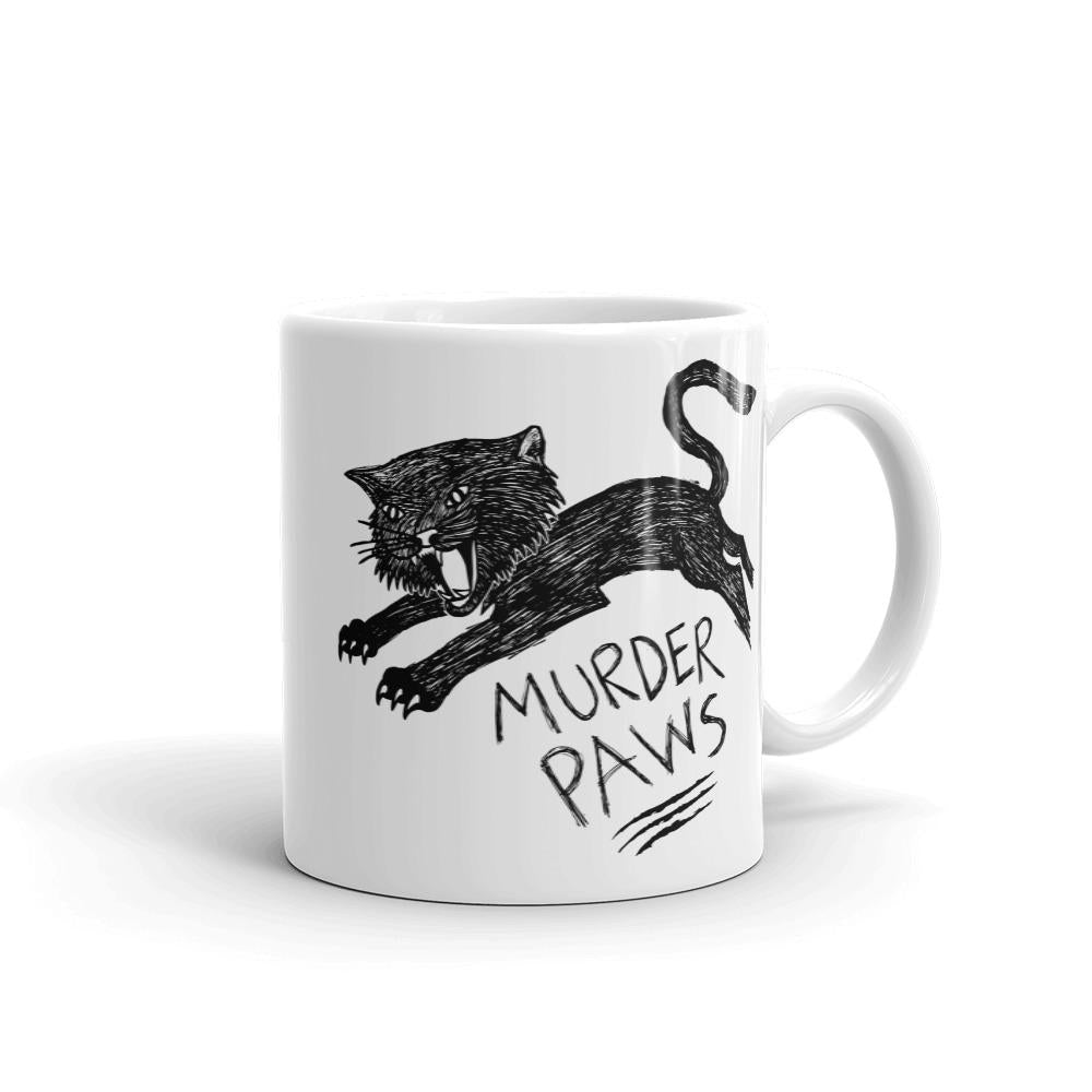 Murder Paws Funny Cat Mug - Revival Ink Shirts