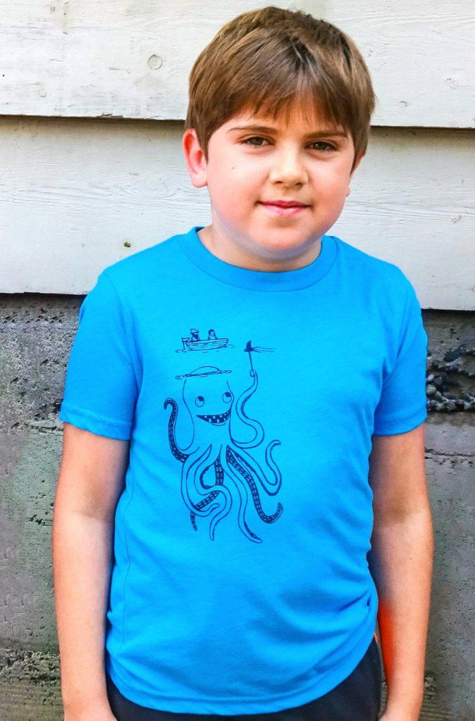 Octopus Kids Graphic Tee - Revival Ink Shirts