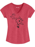 Giraffe Womens Graphic Tee