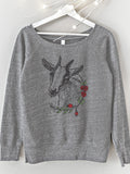 Cute Goat Womens Sweatshirt