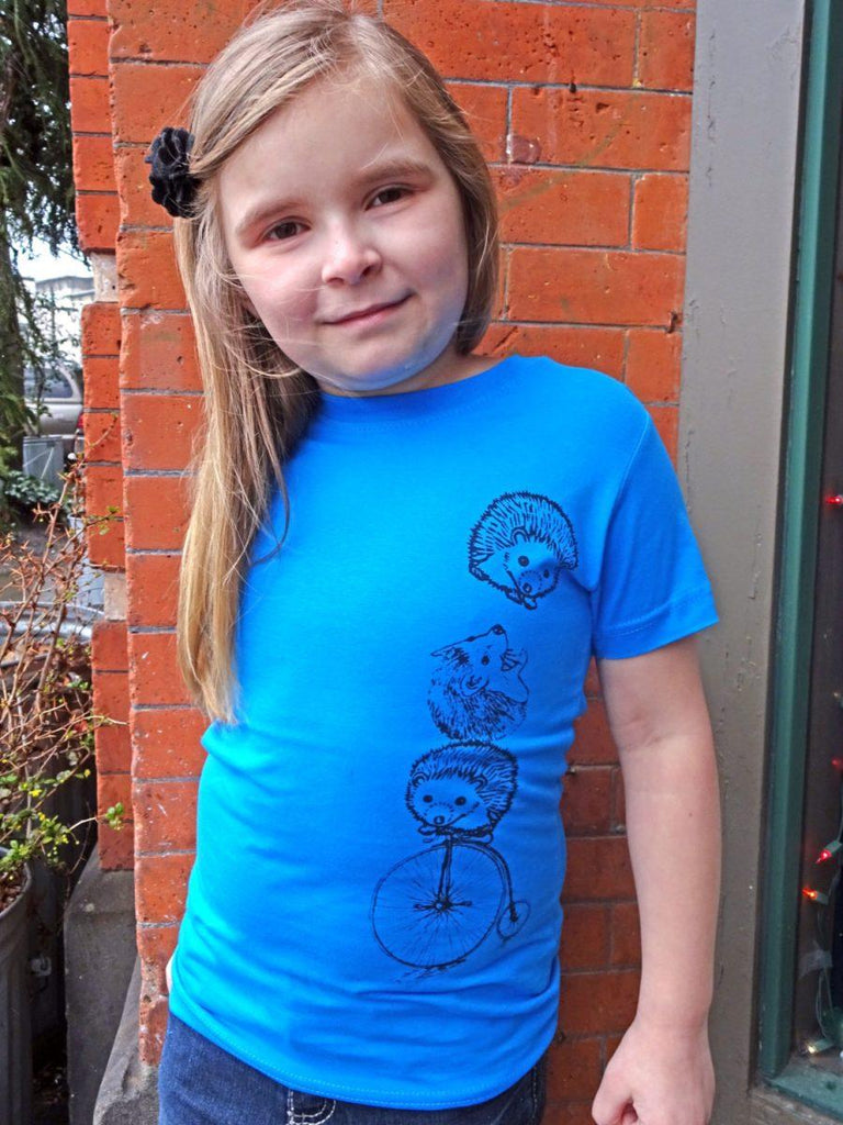 Hedgehog Girls Graphic Tee - Revival Ink Shirts