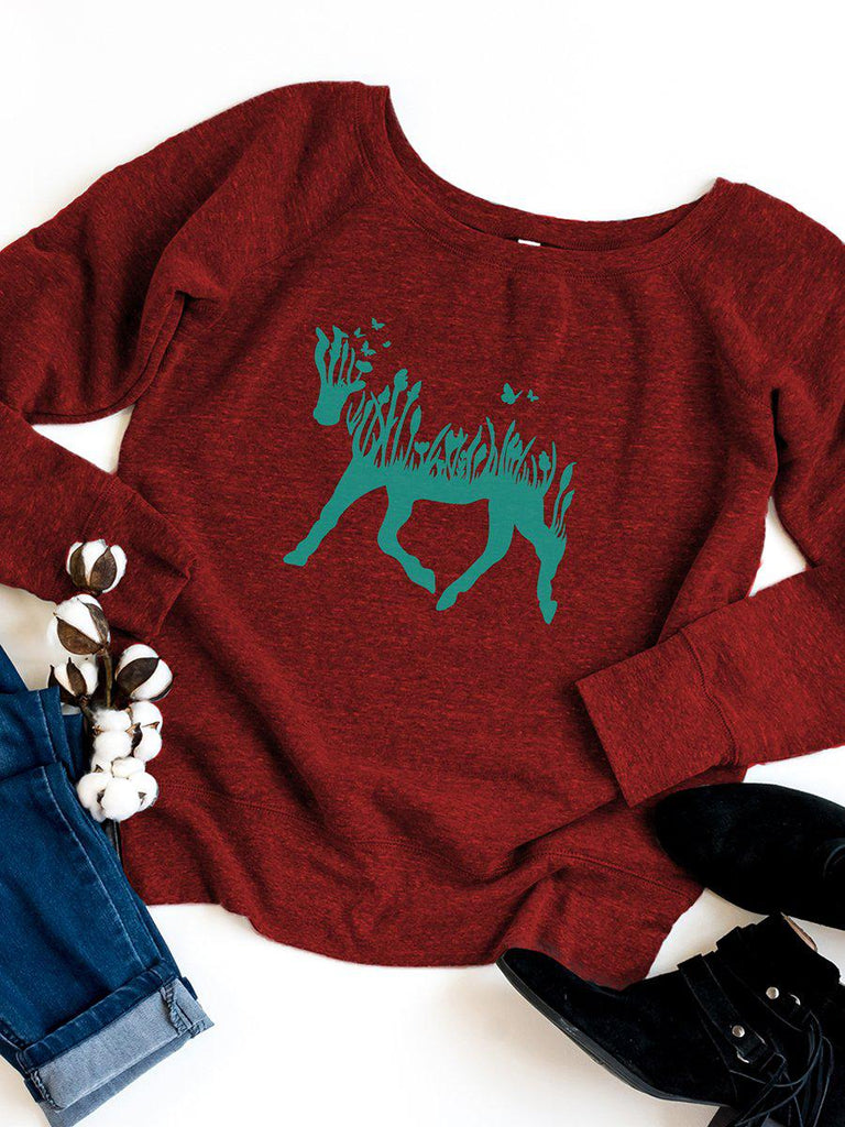 Horse Womens Graphic Sweatshirt