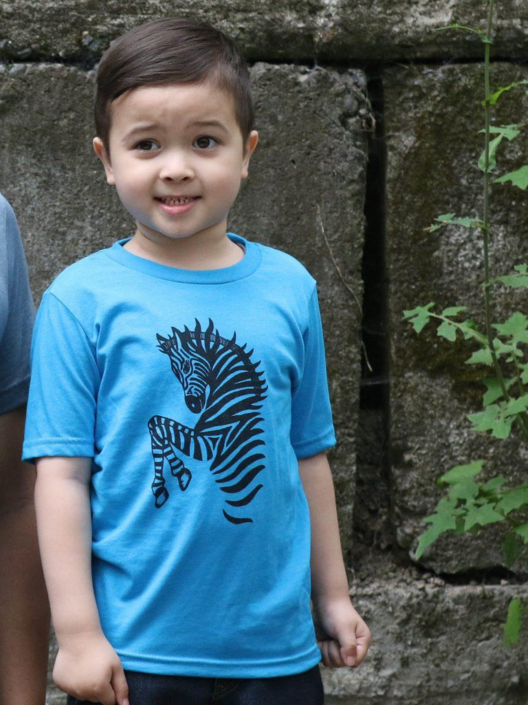 Kids Zebra Print T Shirt - Revival Ink Shirts