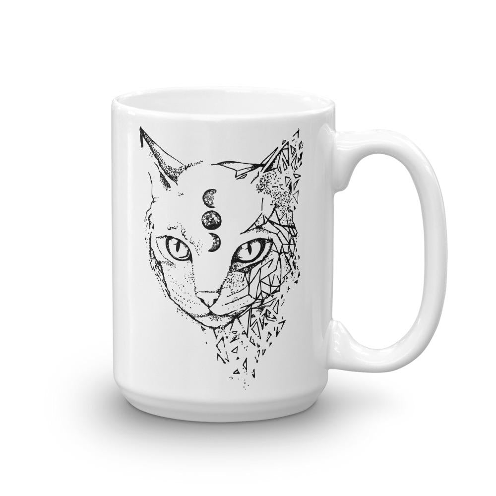 Space Cat Coffee Mug - Revival Ink Shirts