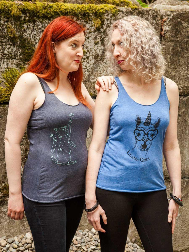 Cat Constellation Womens Tank Top - Revival Ink Shirts