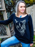 Luna Moon Cat Sweatshirt - Revival Ink Shirts