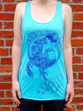 Mermaid Womens Graphic Tank Top - Revival Ink Shirts