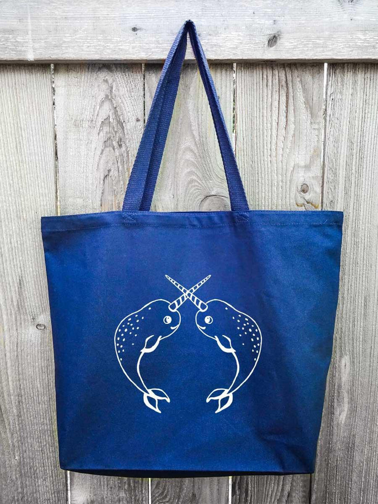 Narwhals Beach Bag | Canvas Tote Bag - Revival Ink Shirts