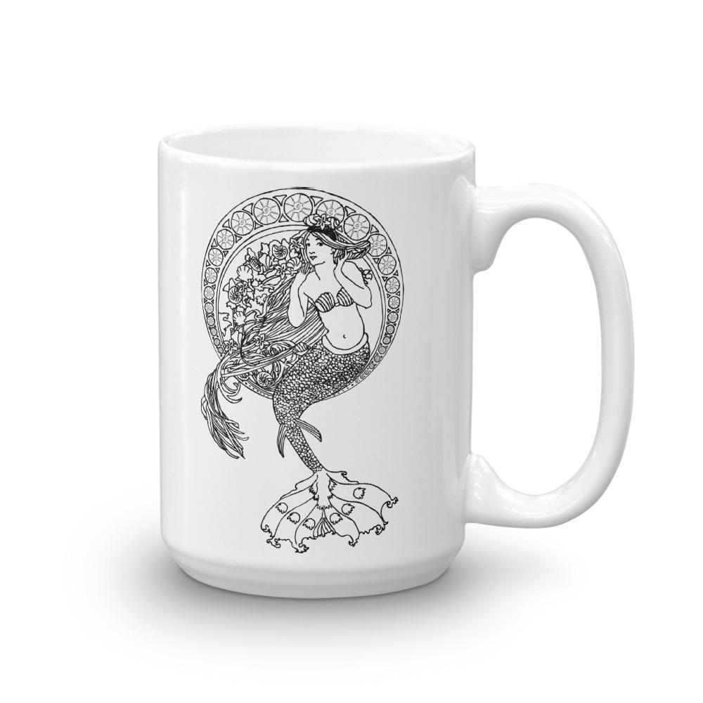 Art Nouveau Mermaid Mug - Revival Ink Shirts