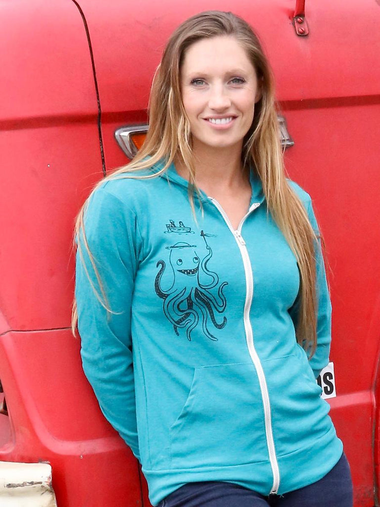 Funny Octopus Zip Hoodie - Revival Ink Shirts