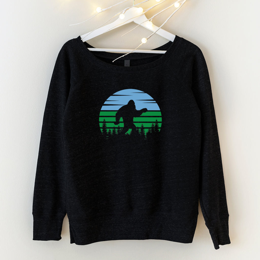 Sasquatch or Bigfoot Womens Graphic Sweatshirt