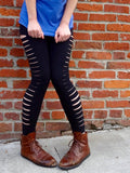 Slashed Womens Leggings - Revival Ink Shirts