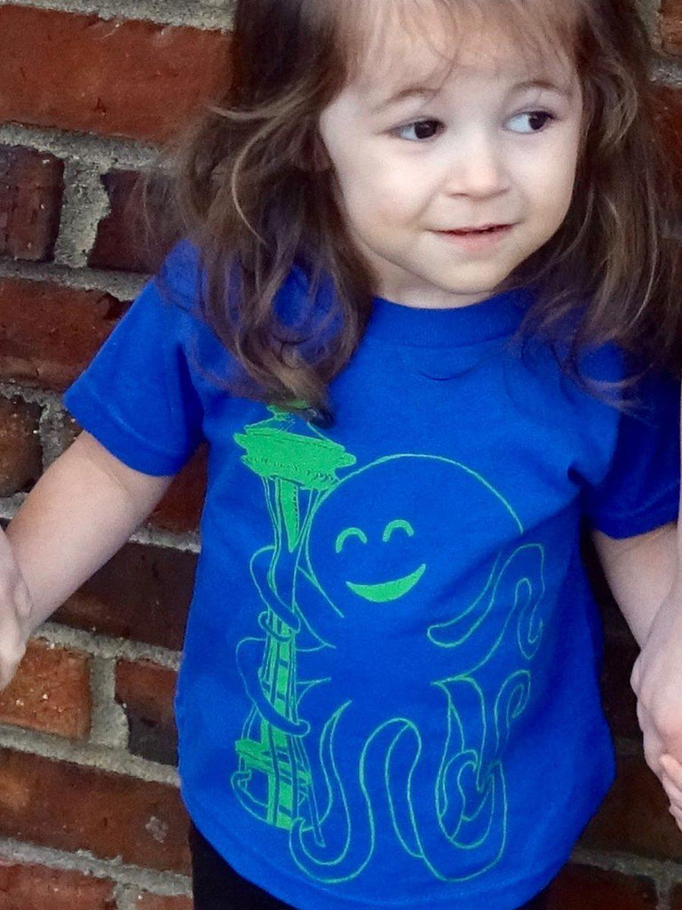 Seattle Octopus Kids Shirt - Revival Ink Shirts