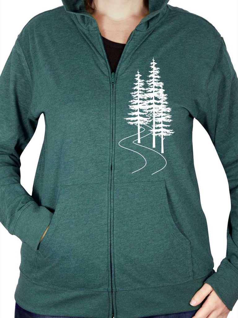 Trees Zip Hoodie Sweatshirt - Revival Ink Shirts