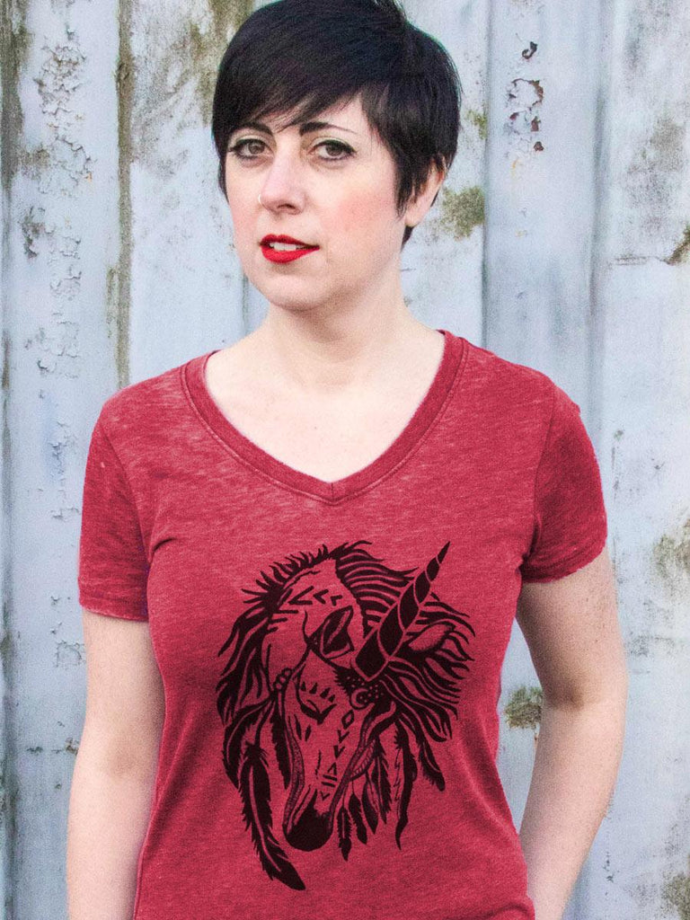 Womens Unicorn T Shirt - Revival Ink Shirts
