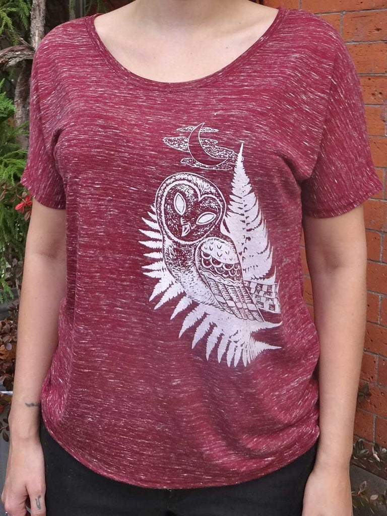 Owl Womens Graphic Tee - Revival Ink Shirts