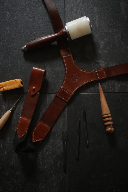 Custom Leather Braces