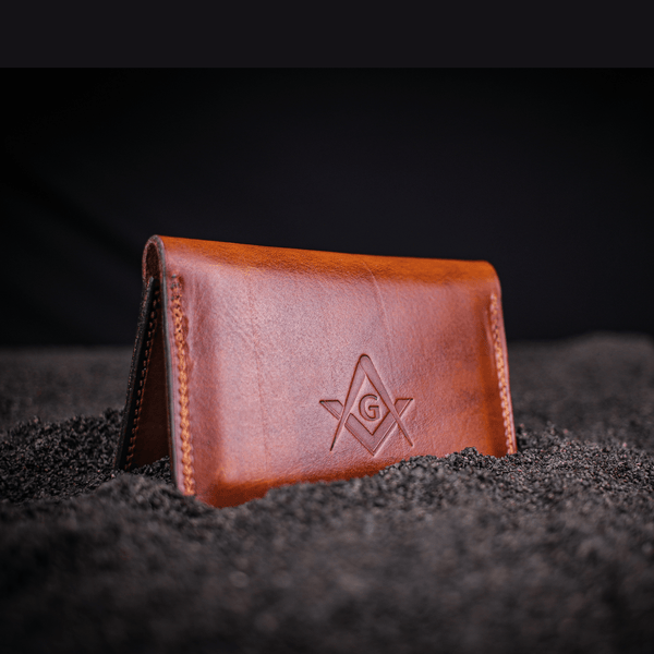 Masonic Bi-Fold Business Card Wallet