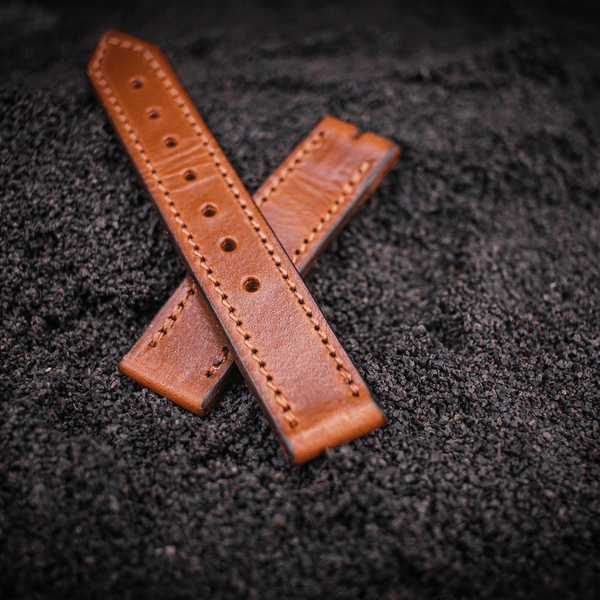 18 mm watch strap tan leather