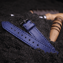 16 mm watch strap blue leather