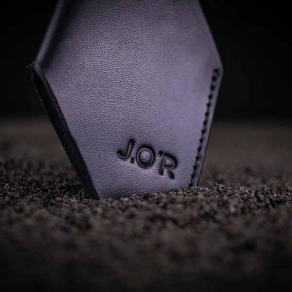 personalised Luke leather wallet engraved with J.O'R