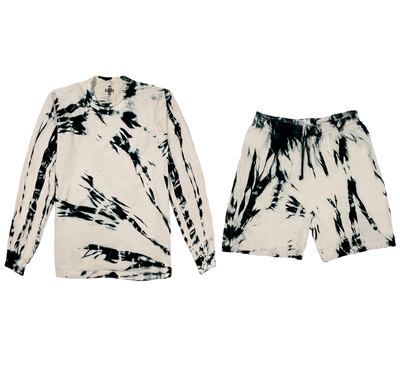OATMEAL SET (LONG SLEEVE + SHORTS)