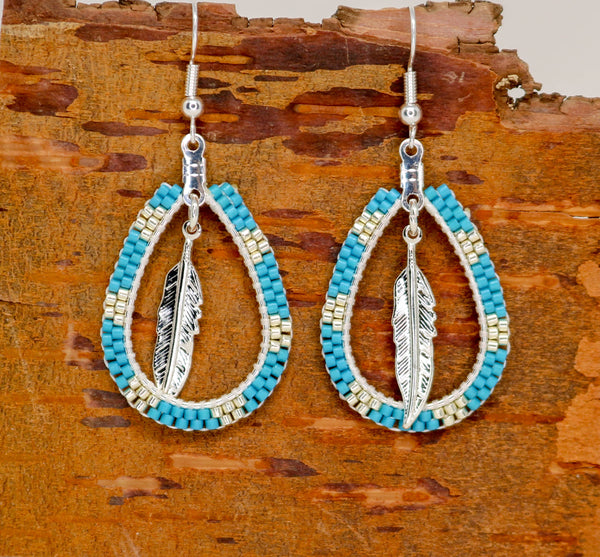 Beaded Earrings Blue