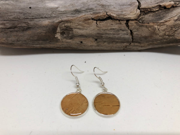 Birch in Resin Earrings