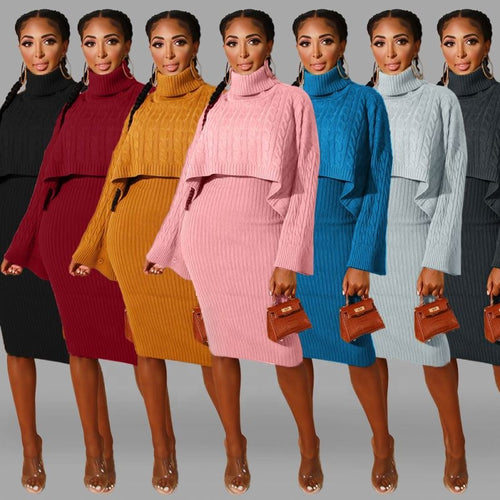 Retail or Wholesale Sweater Dress 2-Piece