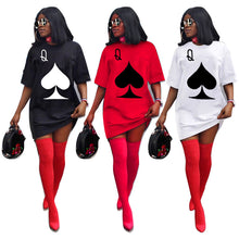 Load image into Gallery viewer, Retail or Wholesale: Queen of Spades T-Shirt Dress