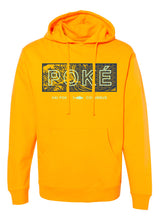 "Load image into Gallery viewer, Hai Poke ""The Great Wave off Ohaio"" Gold Hoodie"