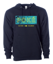 "Load image into Gallery viewer, Hai Poke ""The Great Wave off Ohaio"" Navy Hoodie"