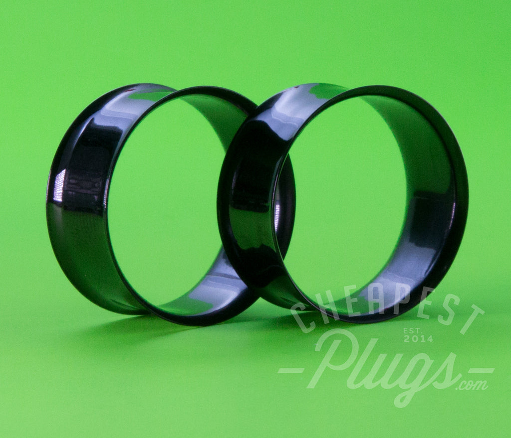 Black Double Flare Steel Tunnels