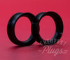 Black Silicone Ear Skins Tunnels