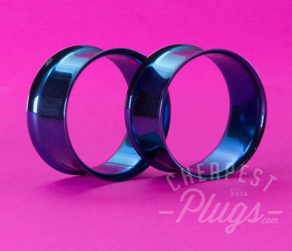 Blue Double Flare Steel Tunnels