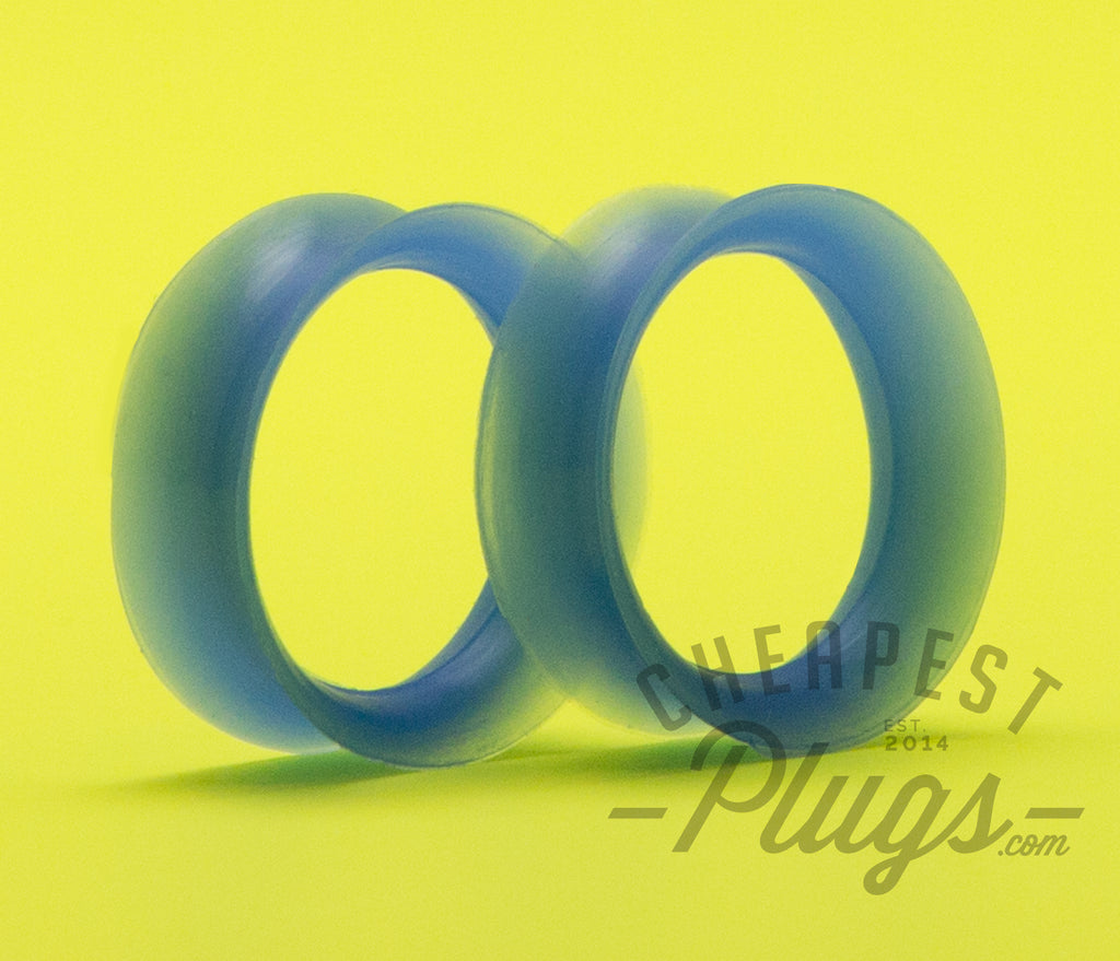 Blue Silicone Ear Skins Tunnels