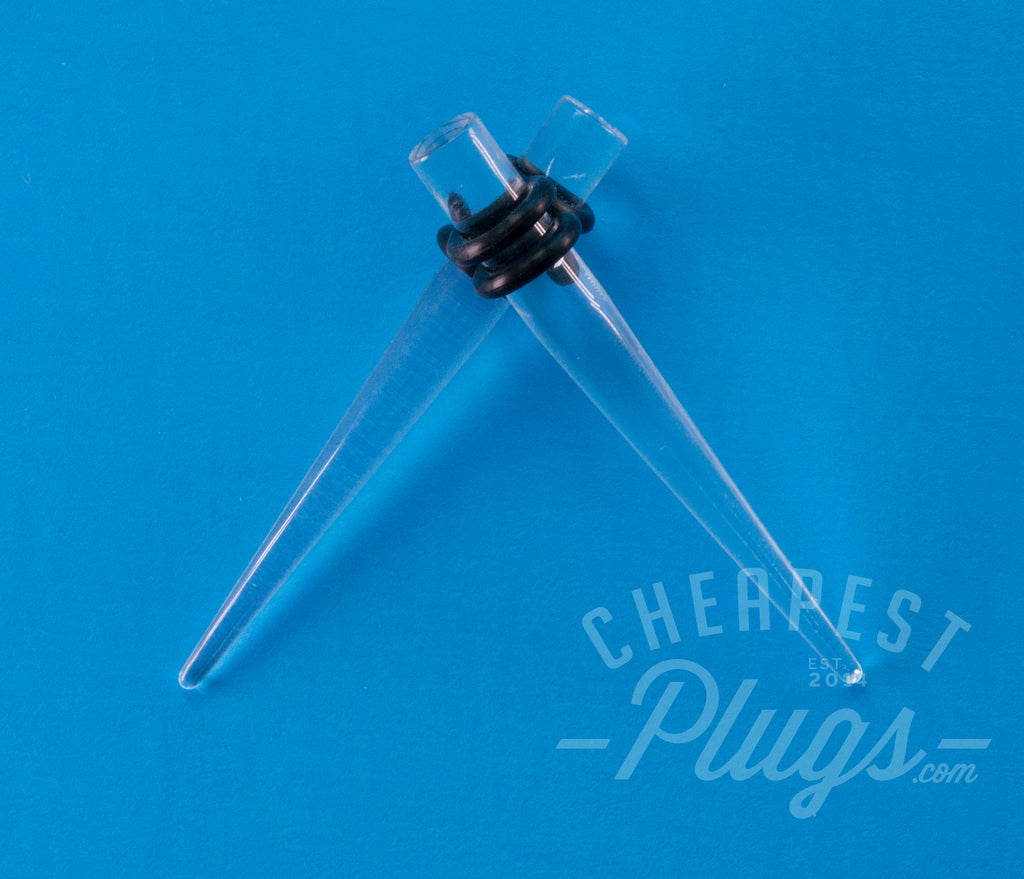 Clear Acrylic Tapers